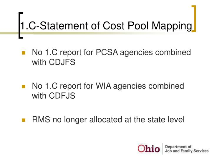 1.C-Statement of Cost Pool Mapping