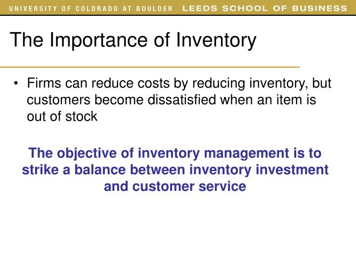 The Importance of Inventory