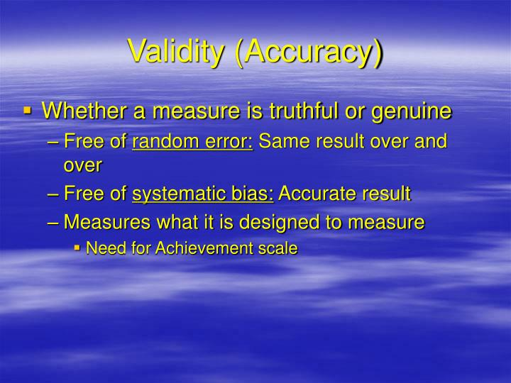 Validity (Accuracy)