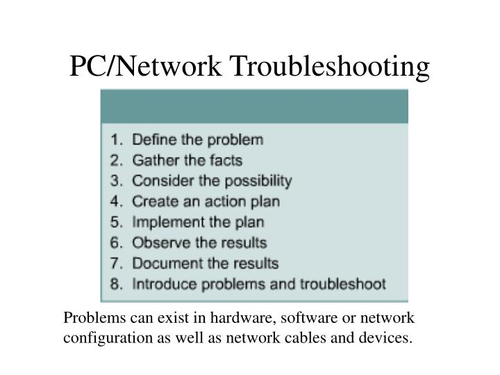 PC/Network Troubleshooting