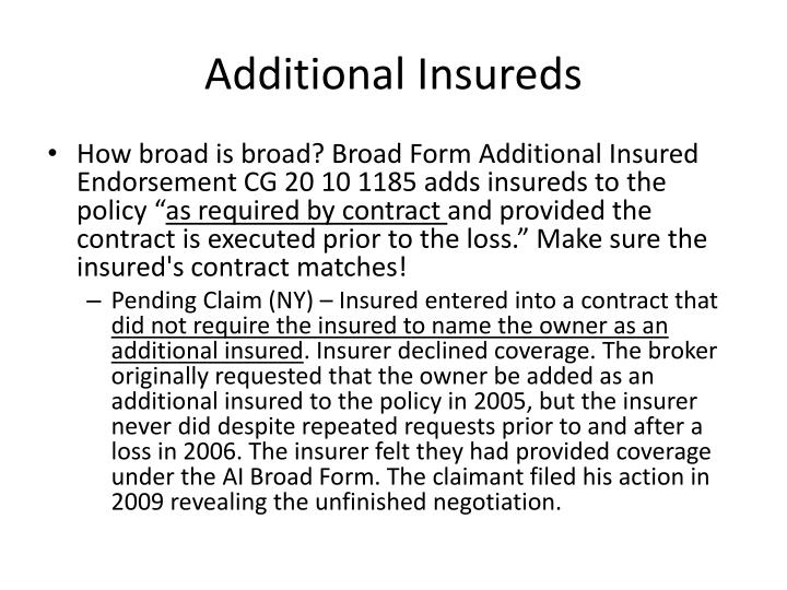 Additional Insureds