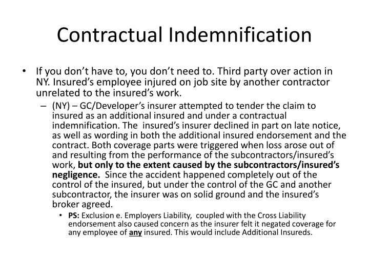 Contractual Indemnification