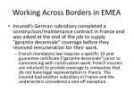 working across borders in emea