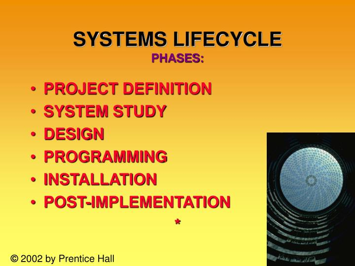 SYSTEMS LIFECYCLE