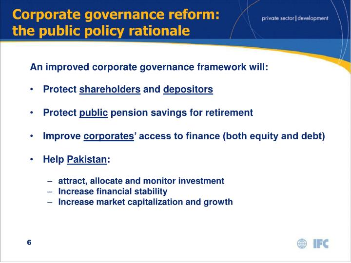 Corporate governance reform: