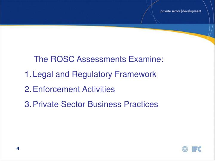 The ROSC Assessments Examine: