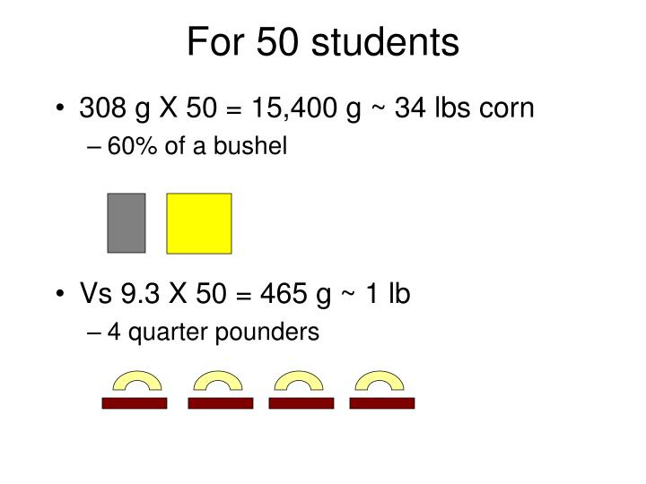 For 50 students