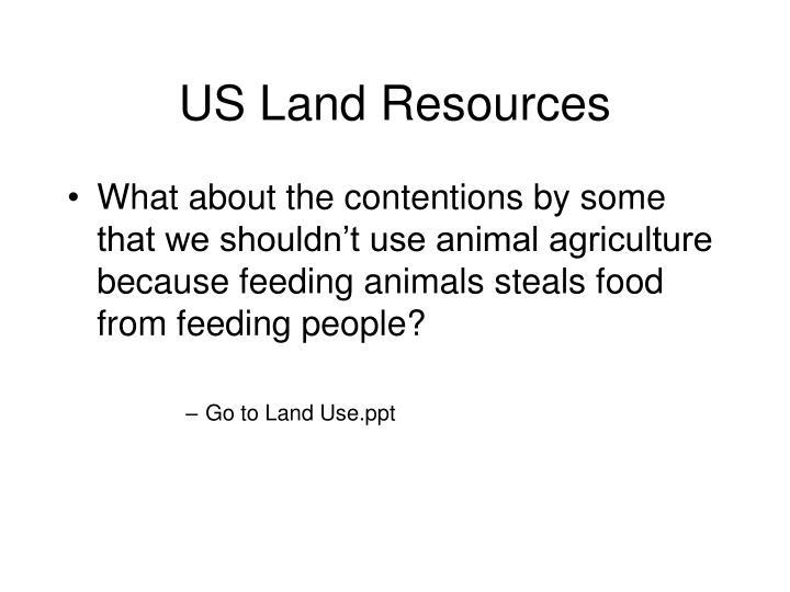 US Land Resources