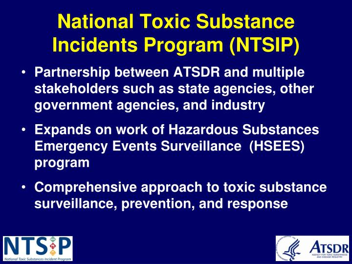 National Toxic Substance Incidents Program (NTSIP)