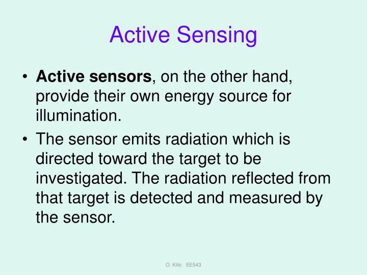 Active Sensing