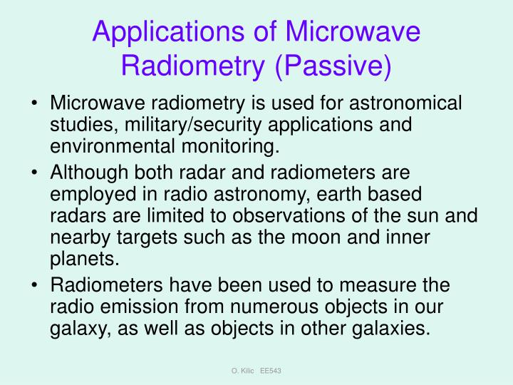 Applications of Microwave Radiometry (Passive)