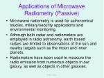 applications of microwave radiometry passive