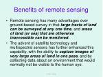 benefits of remote sensing