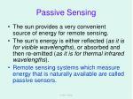 passive sensing