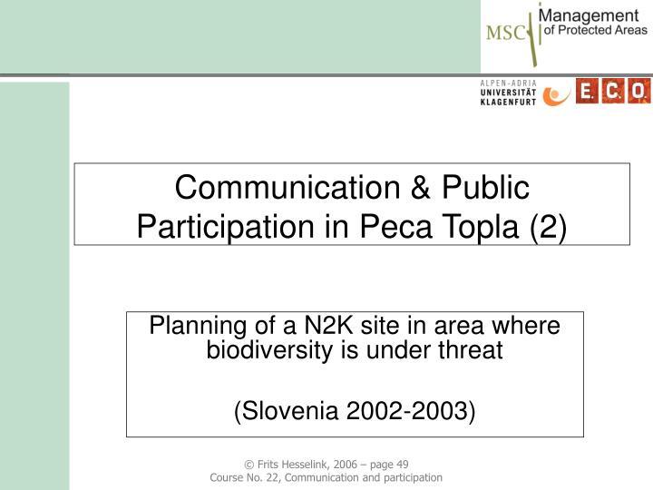 Communication & Public Participation in