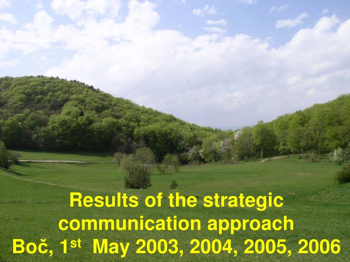 Results of the strategic