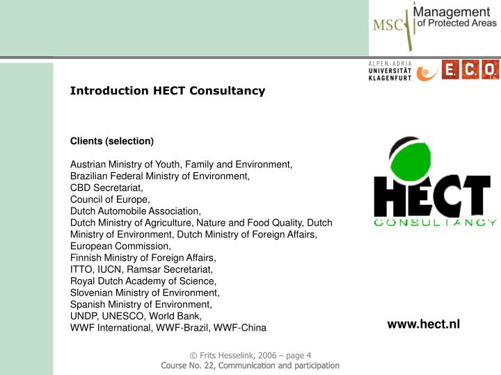 Introduction HECT Consultancy