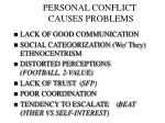 personal conflict causes problems