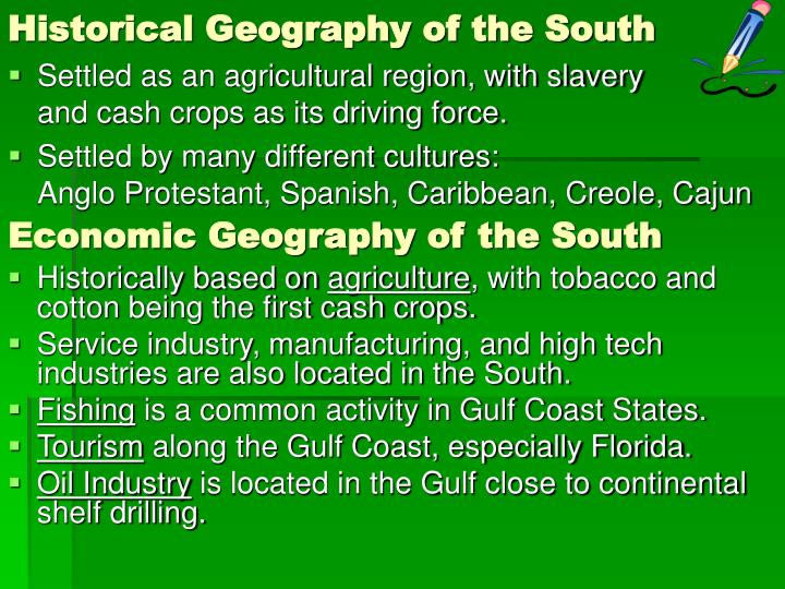 Historical Geography of the South