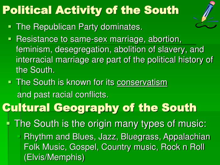 Political Activity of the South