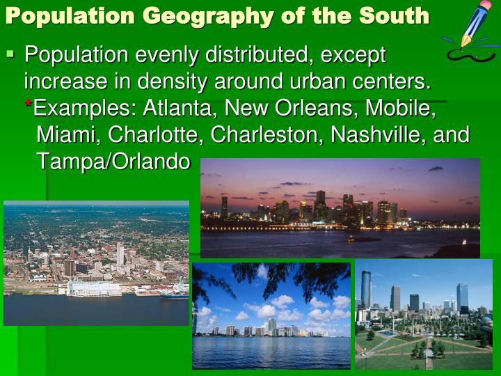 Population Geography of the South