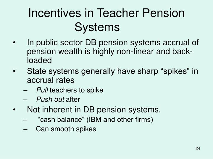 Incentives in Teacher Pension Systems