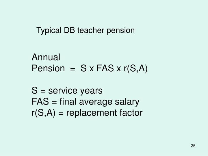 Typical DB teacher pension