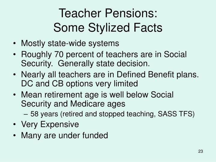 Teacher Pensions: