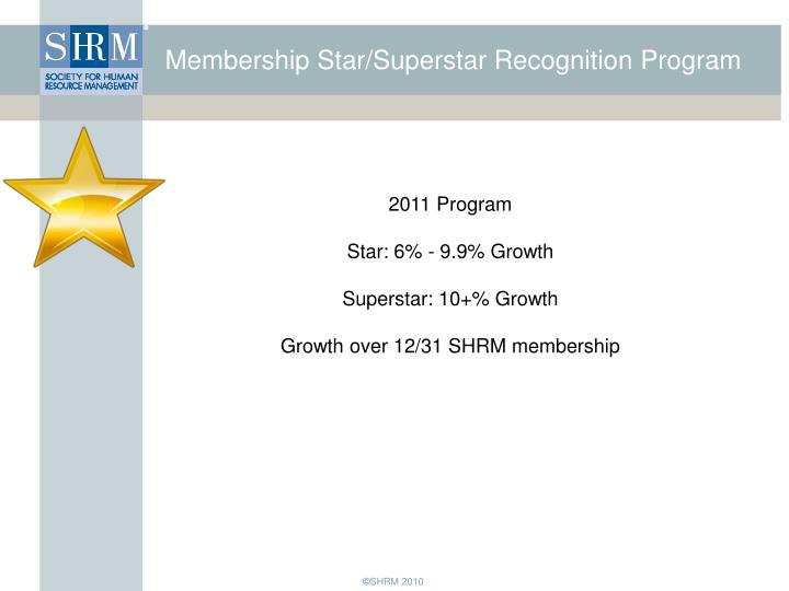 Membership Star/Superstar Recognition Program