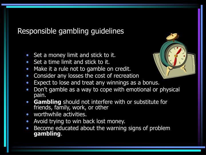 Responsible gambling guidelines