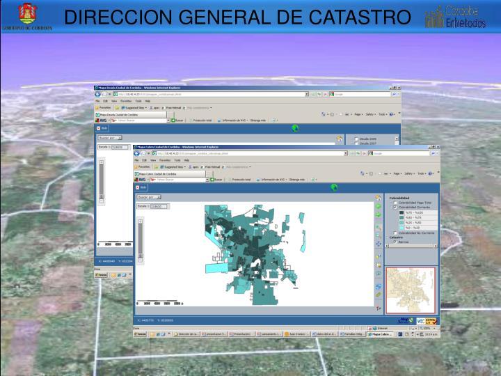 DIRECCION GENERAL DE CATASTRO