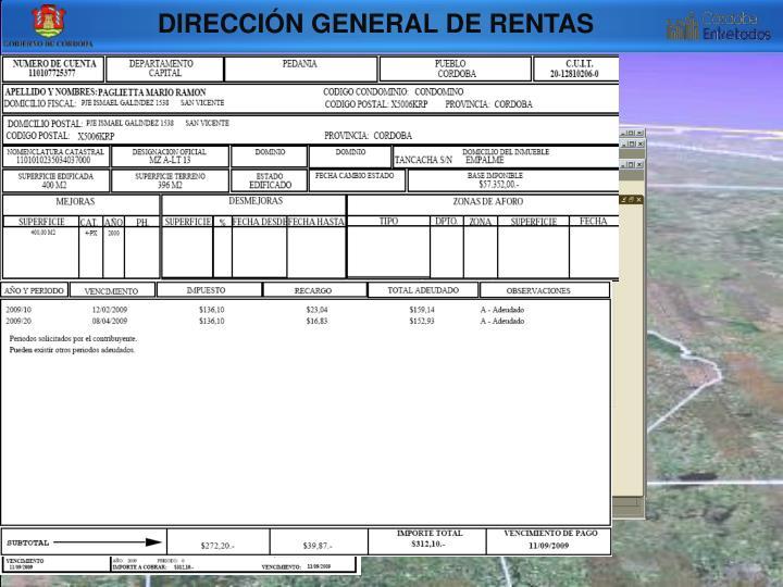 DIRECCIÓN GENERAL DE RENTAS