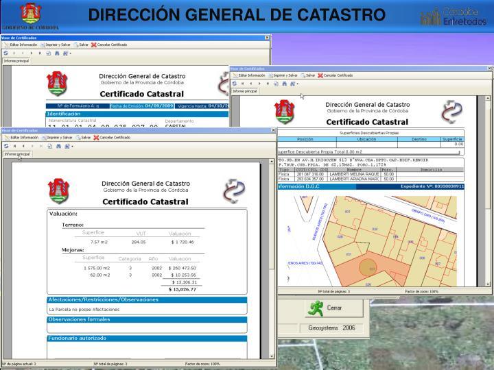 DIRECCIÓN GENERAL DE CATASTRO
