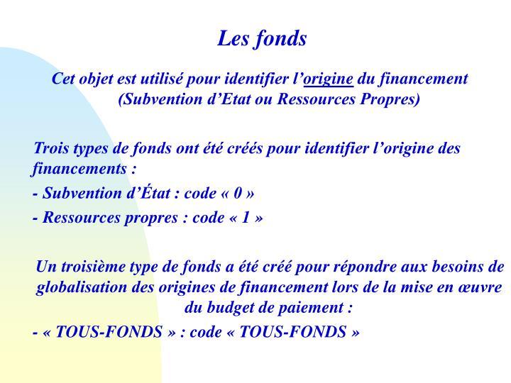 Les fonds