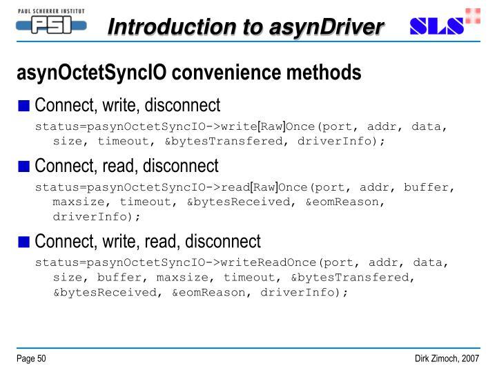 asynOctetSyncIO convenience methods