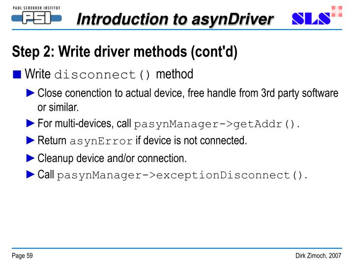 Step 2: Write driver methods (cont'd)