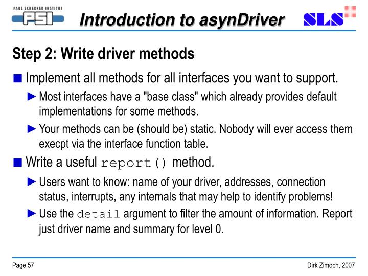 Step 2: Write driver methods