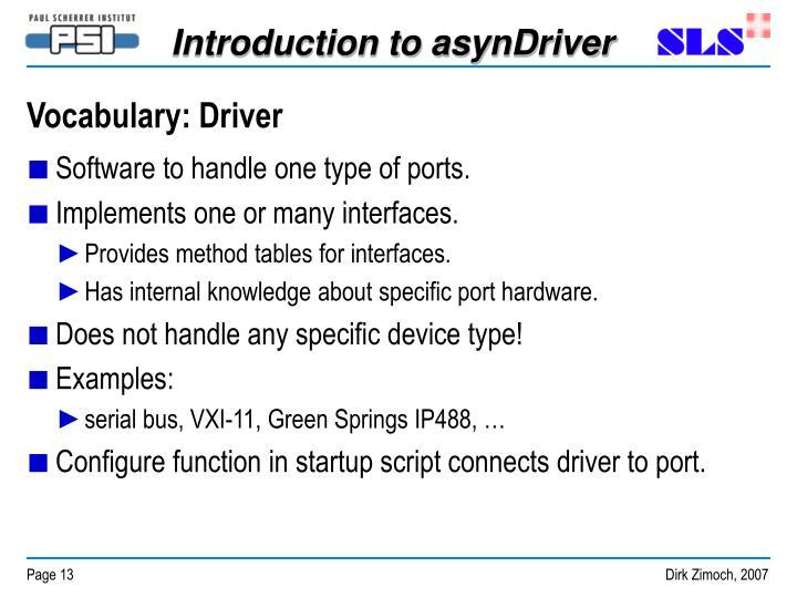 Vocabulary: Driver