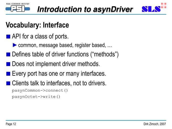 Vocabulary: Interface