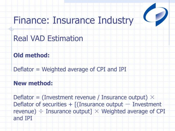 Finance: Insurance Industry