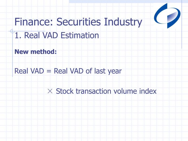Finance: Securities Industry
