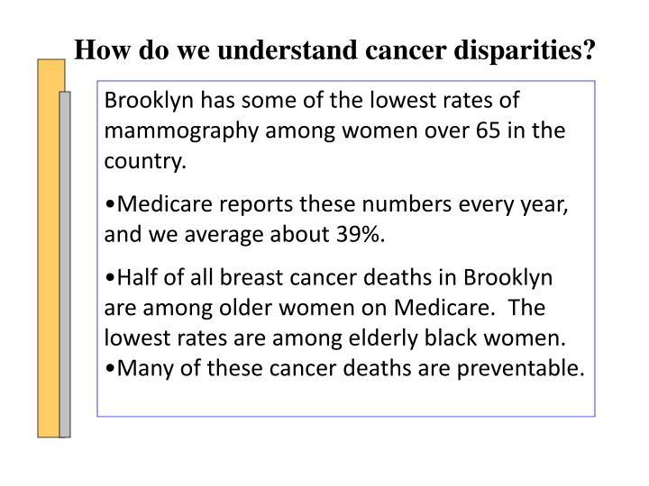 How do we understand cancer disparities?