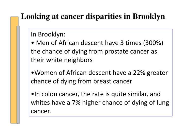Looking at cancer disparities in Brooklyn