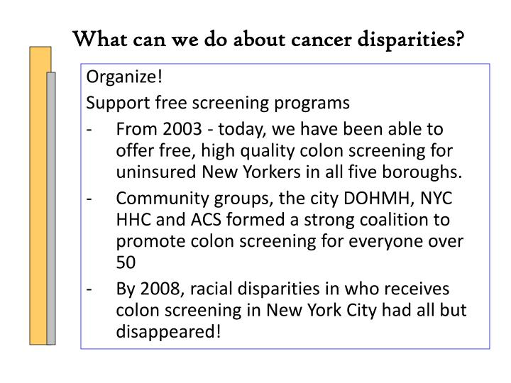 What can we do about cancer disparities?