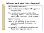 what can we do about cancer disparities6