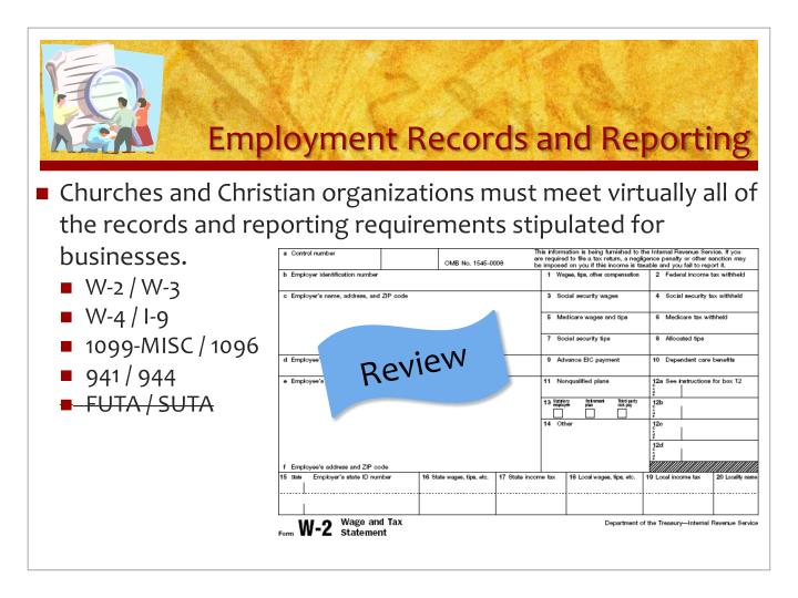 Employment Records and Reporting