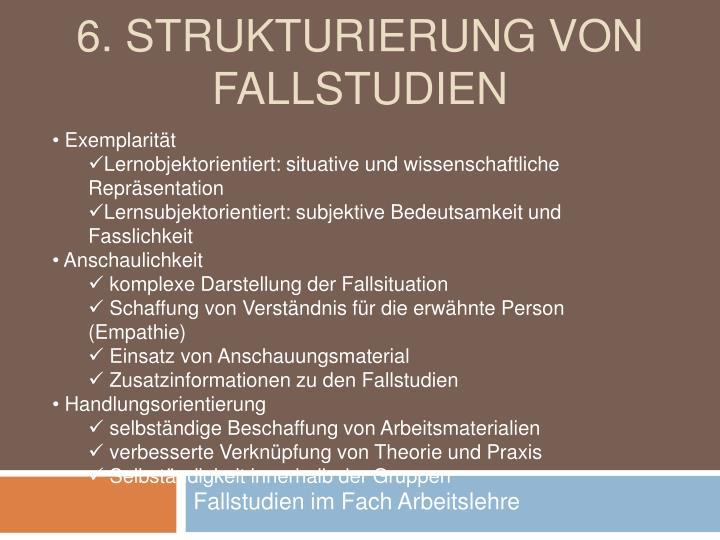6. Strukturierung von Fallstudien