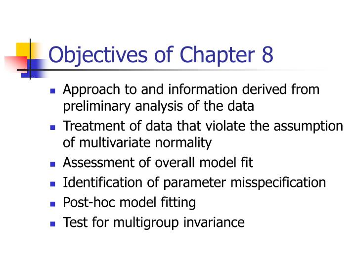 Objectives of Chapter 8