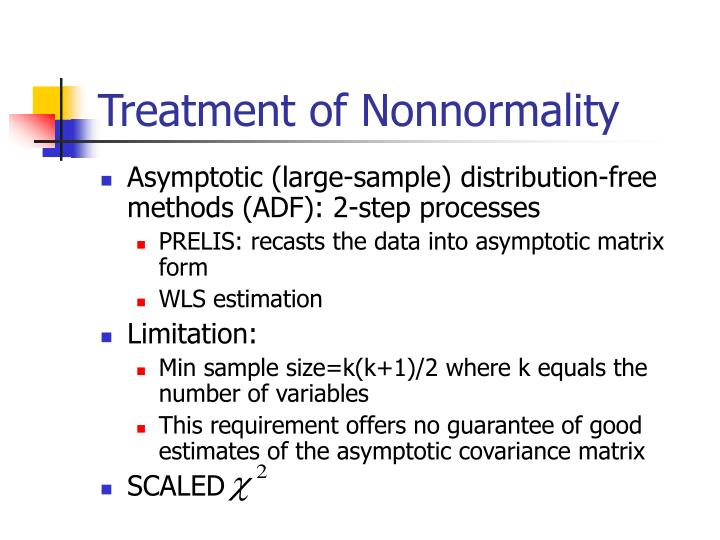 Treatment of Nonnormality