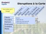 disruptions la carte
